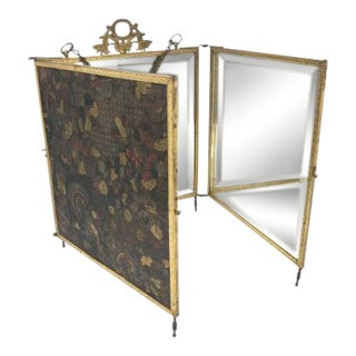 Three Sided Folding Vanity Mirror For Sale