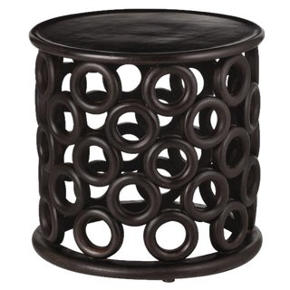 Contemporary Arteriors Kamal Hand Carved End Table For Sale