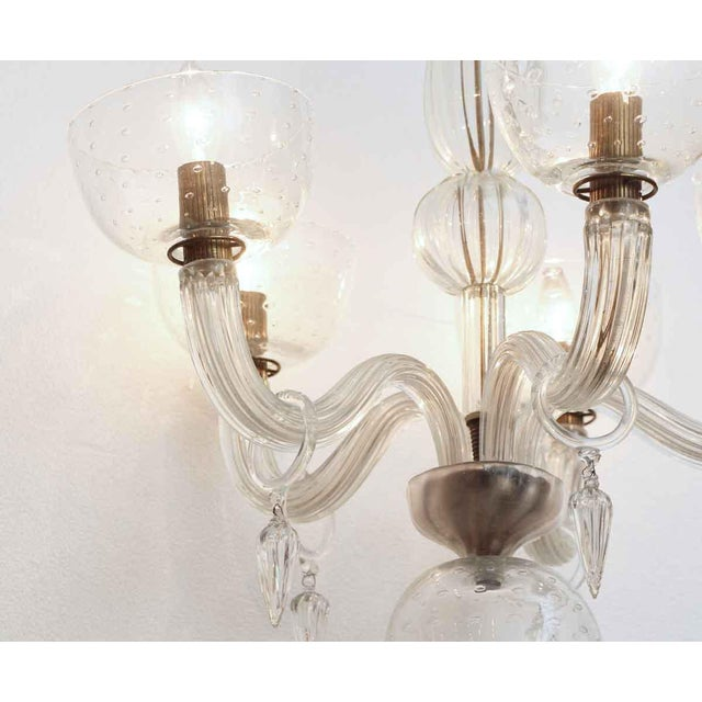 Mid-Century Modern Segusa Mid-Century Modern Blown Glass Chandelier For Sale - Image 3 of 10