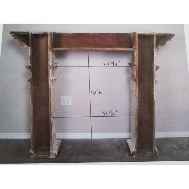 19th Century Italian Painted and Parcel Gilt Fireplace Mantel For Sale In Los Angeles - Image 6 of 13