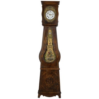 19th Century French Comtoise Grandfather Clock For Sale