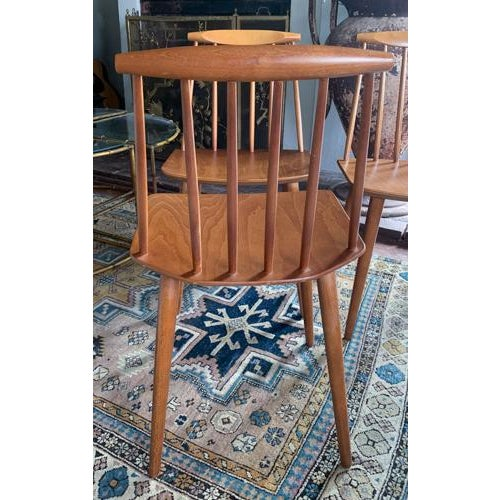 Wood Folke Palsson for Fdb Mobler Mid Century Model J77 Chairs Circa 1970's For Sale - Image 7 of 11
