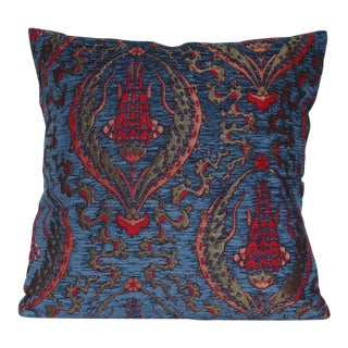 Turkish Floral Tulip Decorative Throw Pillow For Sale