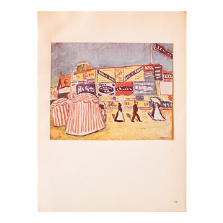 """1948 Albert Marquet, Original Lithograph """"The Posters in Trouville"""" For Sale"""