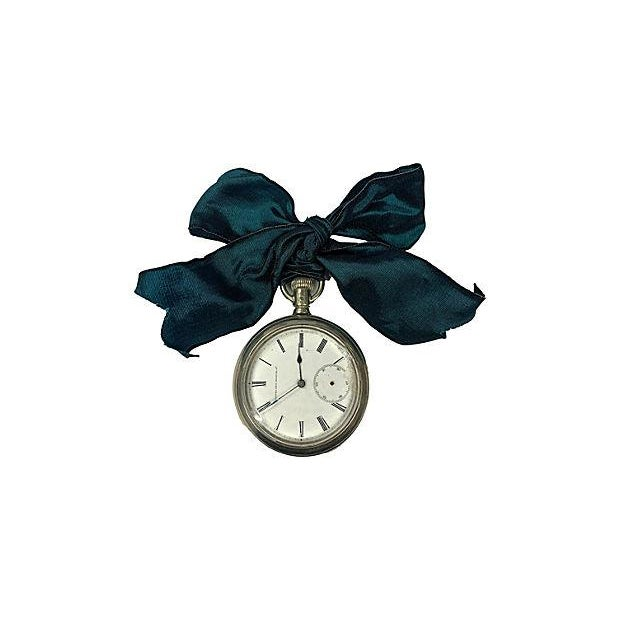 French 1920s Mens Pocket Watch Ornament For Sale - Image 3 of 3