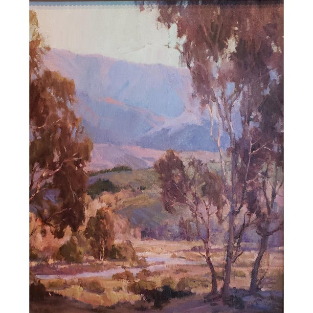 """Sunrise"" and ""In Early Spring"" by California artist Anita Hampton are pendant paintings showcasing the beauty of the..."