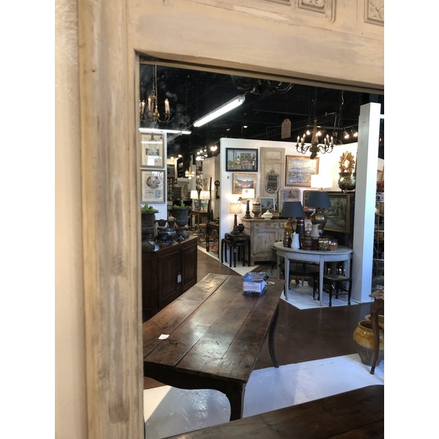 White Antique French Trumeau Mirror For Sale - Image 8 of 13