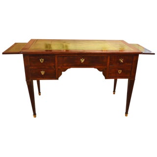 French Empire Style Walnut Writing Desk or Bureau Plat For Sale