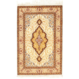 Genuine Isfahan Area Rug - 3′8″ × 5′8″ For Sale