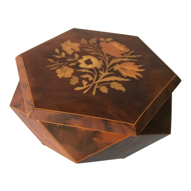 Reuge Sorrento Wood Jewelry Box For Sale