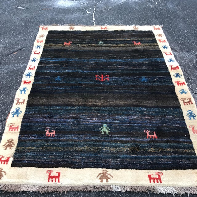 """Vintage Persian Gabe Area Rug- 6'5"""" x 4'7"""" - Image 11 of 11"""