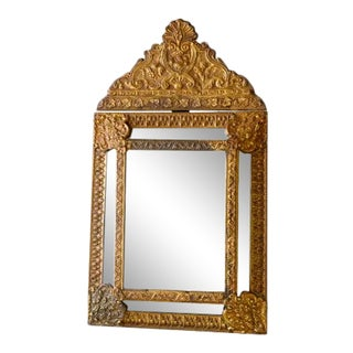 18th Century Louis XIII Style Copper Glit Mirror For Sale