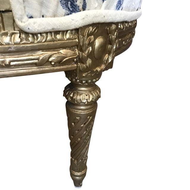 19th Century French Louis XVI Style Giltwood Fauteuils For Sale - Image 4 of 8
