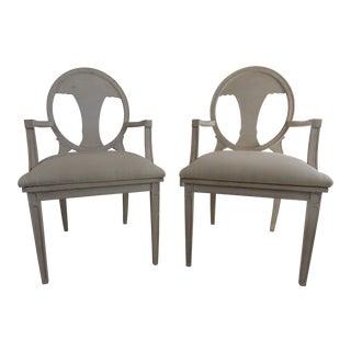 Early 20th Century Swedish Neoclassical Style Armchairs - a Pair For Sale