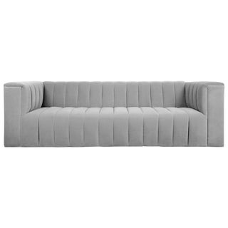 Monaco Sofa in Sharkskin Gray Velvet For Sale