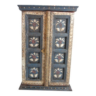 Vintage Tole Painted Spice Cabinet For Sale
