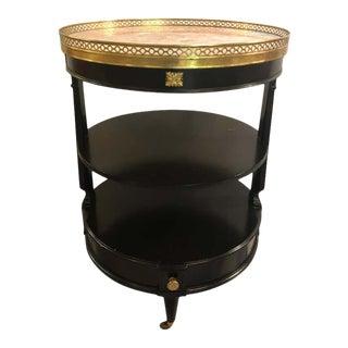 Hollywood Regency Jansen Style Ebonized Dumbwaiter or Serving Cart For Sale