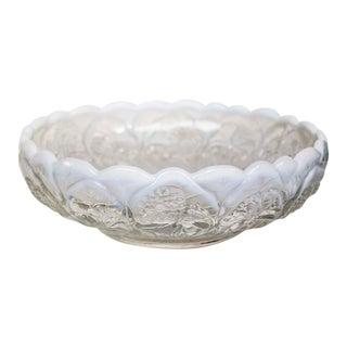Fenton Art Glass Opalescent Fruit Bowl For Sale