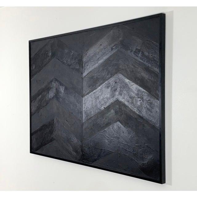 2010s Minimal Black Geometric Painting For Sale - Image 5 of 10