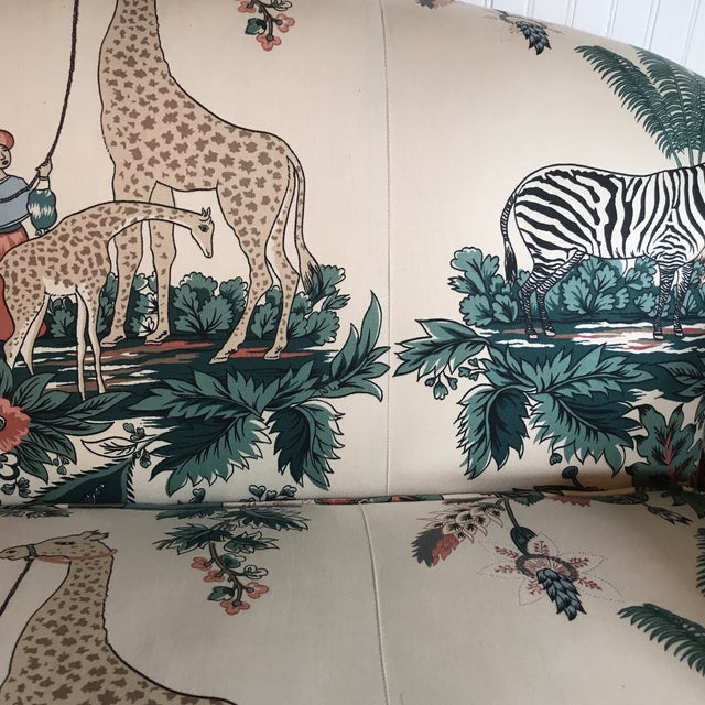 1980s Vintage Pearson British West Indies Jungle Print Sofa For Sale In Raleigh - Image 6 of 13