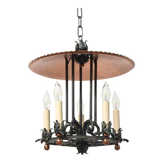 Copper and Verdigris Open Lantern For Sale