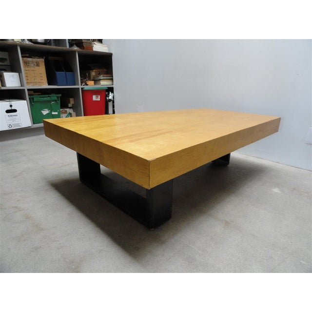 Rare Barzilay Trapezoid Cocktail Table in Birch For Sale In Los Angeles - Image 6 of 10