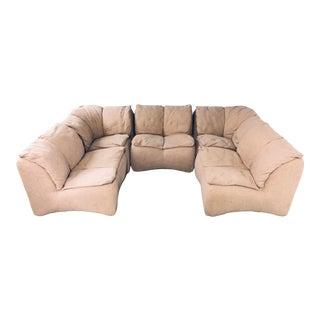 1970s Vintage Castelli Modular Sofa Designed by Altana Spa - 5 Pieces For Sale