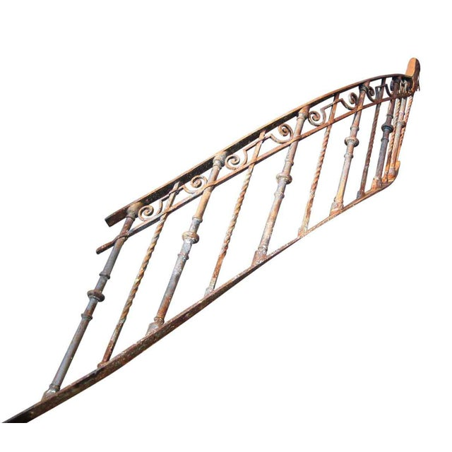 Antique Wrought Iron Spiral Staircase Railing   Chairish