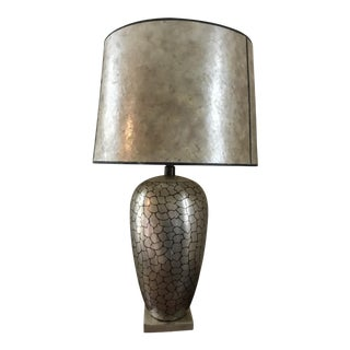 Jay Spectre for Paul Hanson Dinanderie Table Lamp For Sale