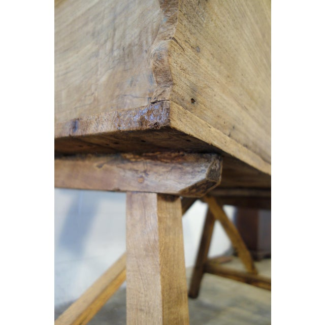 19th Century Italian Rustic Tuscan Farmhouse Console Table For Sale - Image 11 of 13
