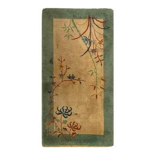 Pasargad Light Brown Antique Art Deco Rug-2'1'' X 4'1'' For Sale