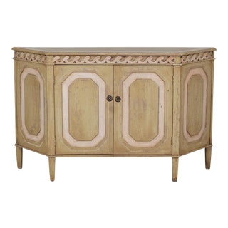 Vintage French Louis XVI Neoclassical Style Painted Buffet Cabinet