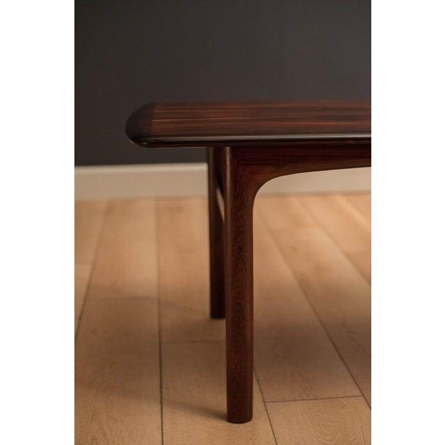 Brown Scandinavian Modern Westnofa Rosewood Coffee Table For Sale - Image 8 of 11