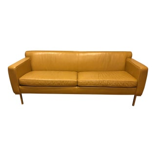 Design Within Reach Leather Sofa For Sale