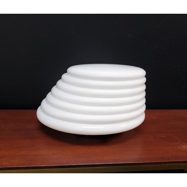 """1980s Italian Modern """"Coban"""" Glass Wall Sconce by Leucos For Sale - Image 5 of 10"""