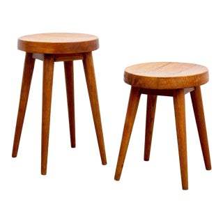 Pair of Pierre Jeanneret & Charlotte Perriand Stools