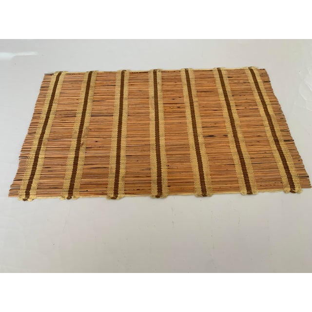 Mid-Century Modern Maria Kipp Style Mid-Century Wood Woven Placemats - Set of 9 For Sale - Image 3 of 8