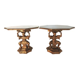 20th Century Italian Figural Gilt Side Tables by Fratelli Paoletti