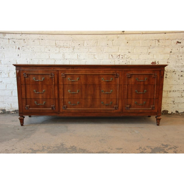 John Widdicomb Vintage Walnut 9-Drawer Dresser - Image 2 of 9