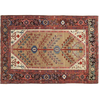 "Antique Serapi Bakhshayesh Rug-4'6x6'6"" For Sale"