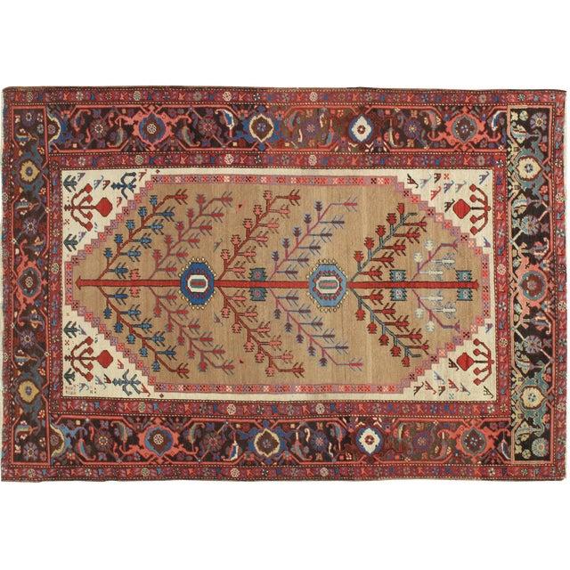 """Antique Serapi Bakhshayesh Rug-4'6x6'6"""" For Sale"""