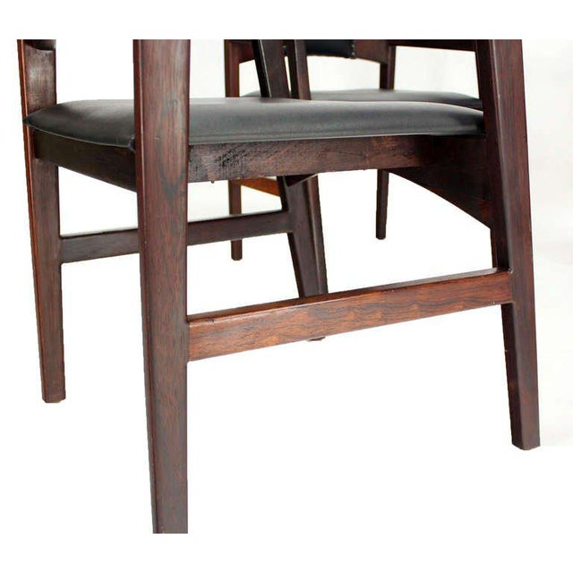 1960s Vintage Danish Mid-Century Modern Rosewood Dining Chairs - Set of 4 For Sale - Image 4 of 11
