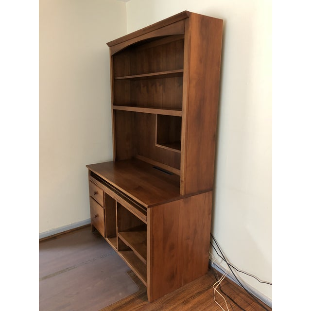 Solid Maple Detachable Computer Desk And Hutch Alone Is 48 Wide X 24
