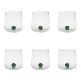 Bilia Tumbler in Green - Set of 6 For Sale
