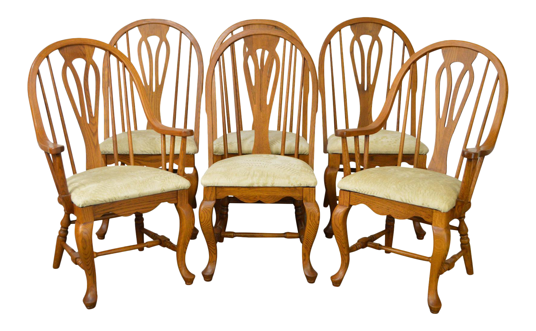 Merveilleux Richardson Brothers Solid Oak Windsor Style Dining Chairs   Set Of 6
