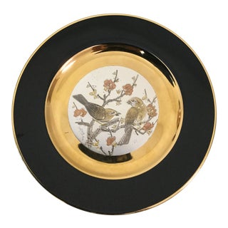1980s Vintage the Art of Chokin Plate For Sale