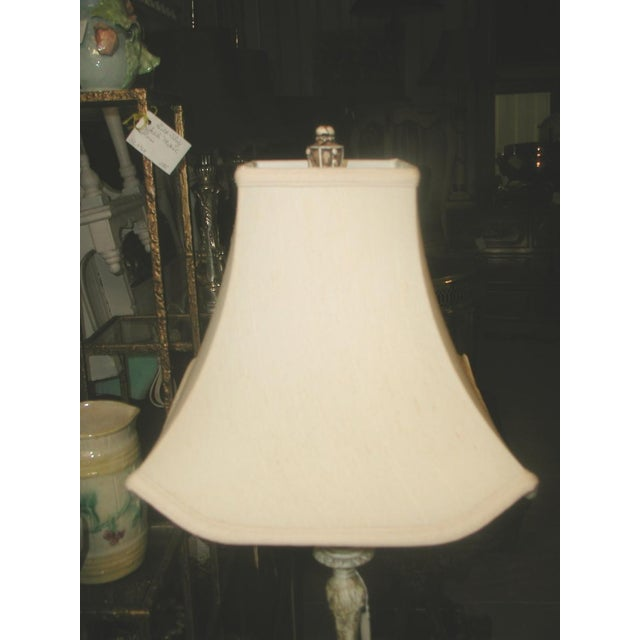Early 1900's Shabby Chic Metal Marble Rewired Lamp - Image 6 of 8