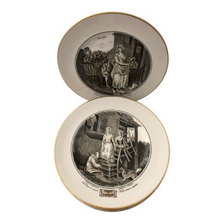 Vintage Cries of London Set Decorative Pictorial Plates Francis Wheatley For Sale