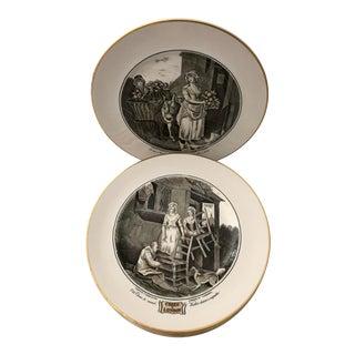 Vintage Set Cries of London Decorative Pictorial Plates Francis Wheatley For Sale