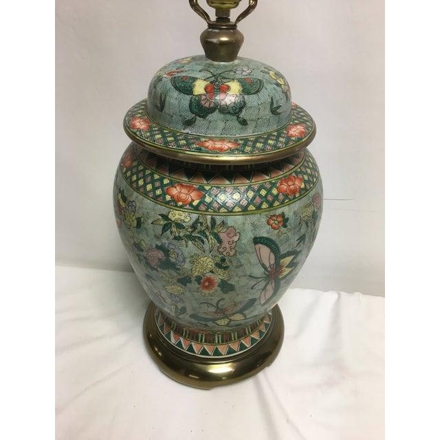 Vintage Oriental Porcelain Butterfly Lamp Chairish